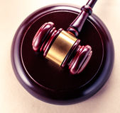 Wooden gavel and block Royalty Free Stock Image