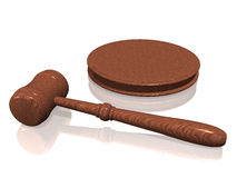 Wooden gavel from the court. On white background (see more in my portfolio Royalty Free Stock Image