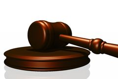 Wooden gavel from the court Stock Photo