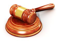Wooden gavel Stock Photography