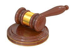 Wooden Gavel, 3D rendering Royalty Free Stock Images