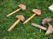 Wooden gavel hammer Royalty Free Stock Image