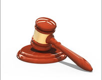 Wooden gavel isolated over white Royalty Free Stock Image