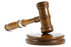 Gavel. Wooden gavel isolated on white background Stock Image