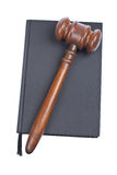 Wooden gavel and law book Royalty Free Stock Photo