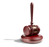 Wooden gavel. LAW concept. 3D Icon vector illustration