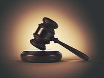 Wooden Gavel. LAW Concept. 3D Illustration Stock Photo