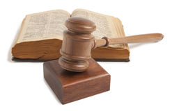 Wooden gavel isolated Stock Photos
