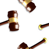 Wooden gavel pattern Royalty Free Stock Images
