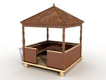 A wooden gazebo �1 Stock Photos