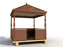 A wooden gazebo №2 Stock Images