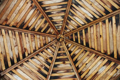 Wooden gazebo ceiling Stock Image