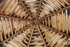 Wooden gazebo ceiling Stock Image