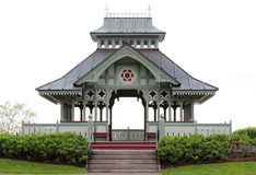 Wooden Gazebo Isolated Stock Images