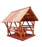 Wooden gazebo Royalty Free Stock Photography