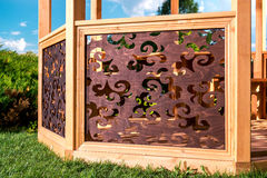Wooden gazebo Stock Images