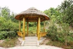 Wooden gazebo in park Royalty Free Stock Photo