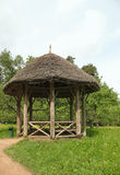 A wooden gazebo in the park estate Mikhailovskoe. Stock Image