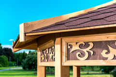 Wooden gazebo Stock Image