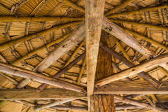 Wooden gazebo roof Royalty Free Stock Images