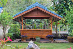 Wooden gazebo Stock Photos