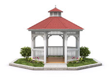 Wooden gazebo Stock Photography