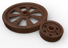 Wooden gear assembly Stock Image