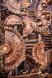 Wooden gears Stock Images