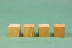 Wooden geometric cube Stock Photography