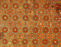 Wooden geometric mosaics carved on Isfahan palace ceiling Stock Image
