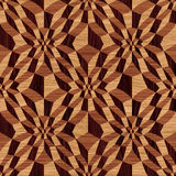 Wooden geometric pattern Stock Images