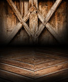 Wooden geometric scene background and floor. Wood place Royalty Free Stock Image
