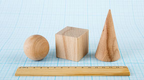 Wooden geometric shapes Stock Image