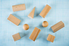 Wooden geometric shapes Stock Photo