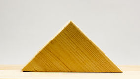 Wooden geometrical pieces Royalty Free Stock Images