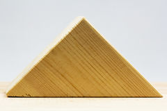 Wooden geometrical pieces Stock Photos