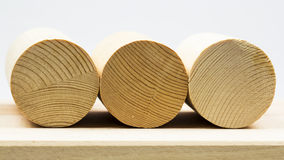 Wooden geometrical pieces Stock Photography
