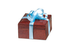 Wooden gift box Royalty Free Stock Images