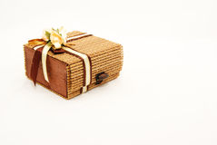 Wooden Gift Box. View of still-life objects taken in a light box Stock Photography