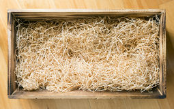Wooden Gift Box Stock Photo