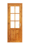 Wooden glazed door isolated Stock Photo
