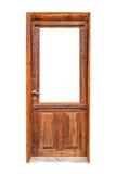 Wooden glazing door isolated on white background Stock Image