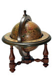 Wooden globe. Old globe made in 1963 in Spain Royalty Free Stock Photos