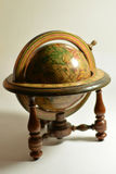 Wooden globe. Old globe made in 1963 in Spain Royalty Free Stock Photography