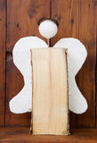 Wooden glory angel for christmas - idea for hobby Royalty Free Stock Images