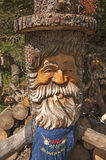 Wooden gnome. Homemade and traditional wooden gnome Stock Image
