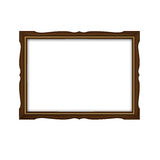 Wooden and gold frame Stock Photos