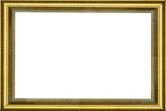 Wooden golden classic frame Stock Images