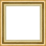 Wooden golden classic frame Stock Photography