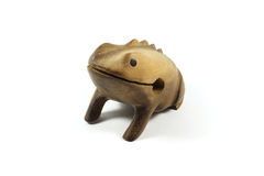 Wooden golden frog souvenir from Brazil Stock Photography